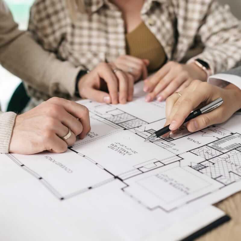 Presentación de plano detallado de la vivienda